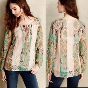 Anthropologie | Meadow Rue | Giada Peasant Top
